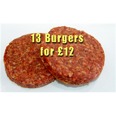 13 Burgers for £12 (448g)