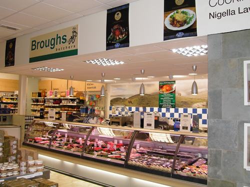 Broughs counter within Dobbies Garden World